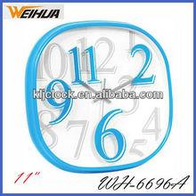 11 inch plastic quartz wall clock for gift