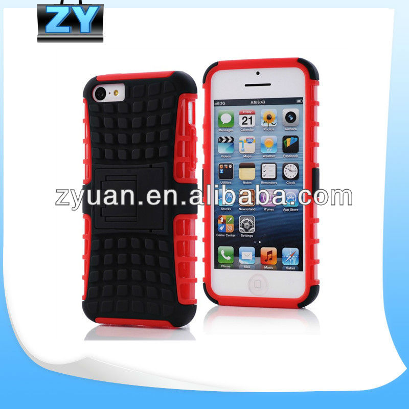 For IPhone 5C PU and Silicone case