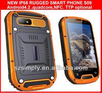 "IP68 QUAD CORE 4.3""celular dual chip GPS PTT. NFC optional"