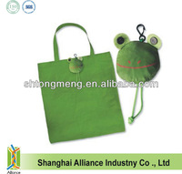 2014 New style frog shaped tote shopping bag/promotion folding bag