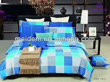 Elegant grey twill fabric bedding fitted sheet set