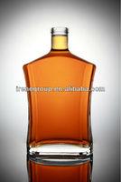 750ml glass vodka bottle high transparency