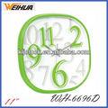 Café reloj de pared/colorido reloj de pared/reloj decoración de hogar