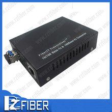 Network 10 /100/ 1000 mbps fiber to rj45 converter sfp media converter