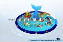 shark tail water park/Amusement park equipment for sale