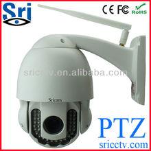 Outdoor Metal Dome P2P Wireless PTZ IR Distance 40m Universal Dome waterproof camera case