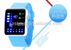 Cute LED hand watches silicone straps for kids favorite