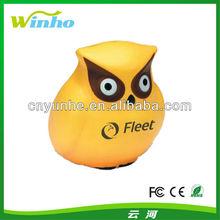 can print logo PU owl foam stress ball-- Promotion gift