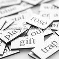 personalizados de papel palavras magnética para a educação
