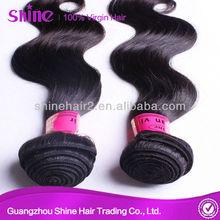 Guangzhou shine hair trading Co,ltd wholesale indian hair body wave 100% indian hair