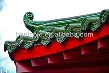 Green glazed roofing tar