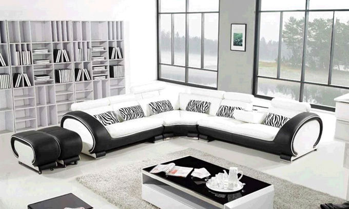 wohnzimmer couch leder:Extra Large Leather Sectional Sofas