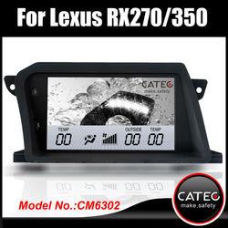 Original 8 inch in dash double din car dvd cd player gps head unit for lexus rx350