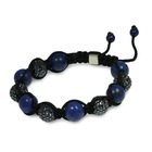 Crystal beads with Blue Lapis Bracelet