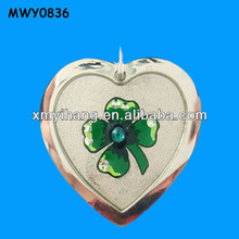 Green flower decorated resin Custom Shape Dog Tag