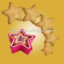 FDA&SGS Healthy Star Shape Plastic PP Cookie Press Set
