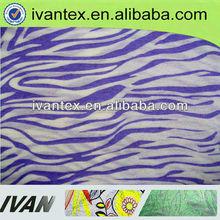 Fashion new design pretty soft wholesale burn out poly soft woven cotton stripe fabric
