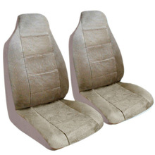 Beige Regal Style Front High Back Car Van Truck Seat Covers Set Universal