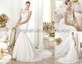 Exclusivamente vestido de casamento nupcial pow-284 mais recente rendas sem mangas do vestido de casamento