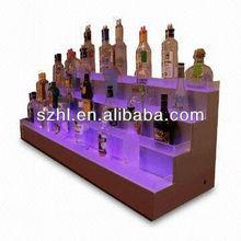 4 tiers led acrylic bottle display holder wine display holder