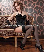Lady's Good Quality Black Silk Lingerie