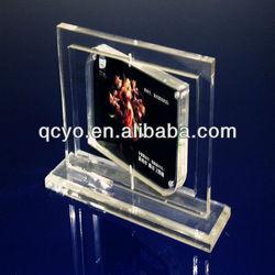 Novelty acrylic photo frame with standoffs