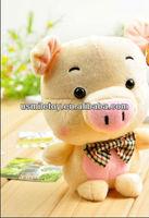 promotional pink plush pig for newborn babies