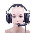 Hd-202 de doble oído auricular intercomunicador para hablar de nuevo del sistema