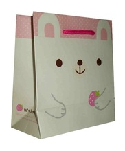 High quality coated paper bags printing for packing garment