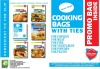 Oven cooking bags of different types