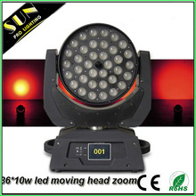 Hot sale!!! 36*10w rgbw 4in1 decorations for disco led moving head stage lighting