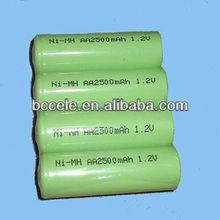 High capacity 2500mah AA nimh rechargeable battery/AA rechargeable ni-mh battery 1.2v