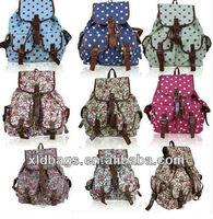 Fashion colourful floral canvas shoulder bag for high school girls