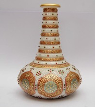 Marble Flower vase Hand Made, India Handicraft items,Ethnic