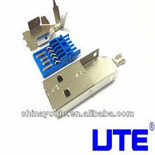 3.0 AM Solder Three-Pieces USB Connector