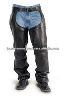 Mens Premium Black Leather Chaps