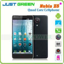 5 China brand zte nubia z5 3g smartphone 1920x1080 px android 4.1 quad core 1.5ghz 2gb ram dual camera 2.0MP+13.0mp