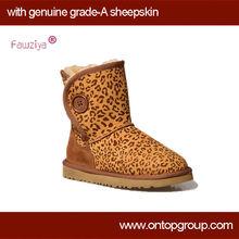 2013 girl leopard snow boot western boots snow boot women