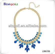 cobalto glicine in fiore perlina design bavaglino collana ldn5706