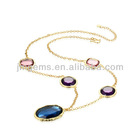 Beautiful 925 sterling silver necklace with crystal series No.ZSJ120