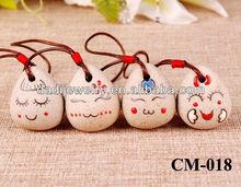 Ceramic Bell Handmade Pendant brass Bell cartoon bell Made in China christmas gift