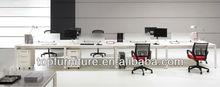 Good Quality Melamine Table Top Metal Leg Modular Office Furniture