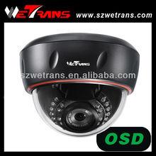 "WETRANS TR-SD225IREFH 1/3"" sony ccd 700tvl OSD menu cctv dome camera with audio"