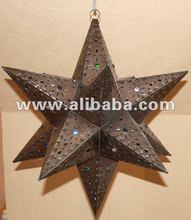 Mexican tin star light