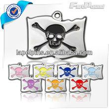 Custom Designer Skull and Crossbones Pirate Pet ID Tag