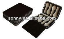 Exquisite Dark Brown PU leather Round Corner Box