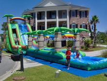 Hot-selling new attactive inflatable tropical water slide