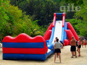 Hot sale !! 2013 CE New design high quality cheap pvc gaint inflatable water slide on sale QILE-WD031