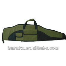 2015 Brand New Army Green Leather soft Gun Case