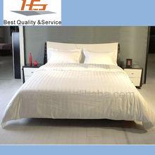 Hot Sale White Damask Stripe Duvet Comforter Set Bedding Set